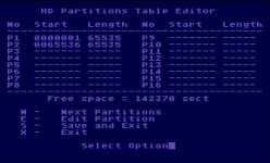 Fdisk - editor partitions